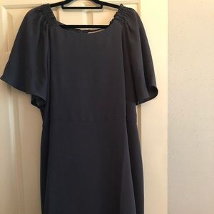 Grayish fit and flare dress. Only wore once
